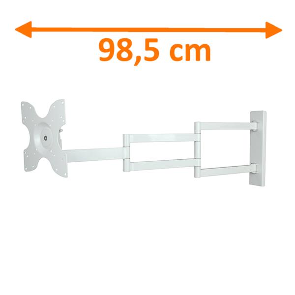 DQ  Rotate XL White 98,5 cm TV Beugel