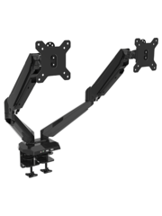 VisionMounts VM GM224U Dubbele Monitorarm Met Gasveer Zwart