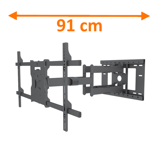 DQ Atlas 91 cm Black TV Beugel Extra Lang