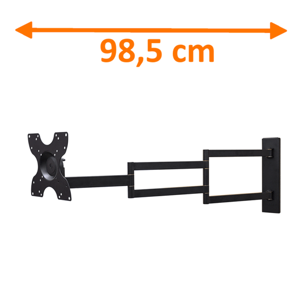 DQ Rotate XL Black 98,5 cm TV Beugel