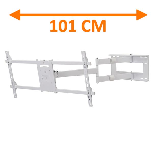 DQ Reach XXL 101 cm Extra Lange TV Beugel Wit
