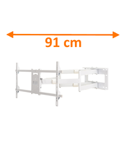 DQ Reach XXL 91 cm White TV Beugel