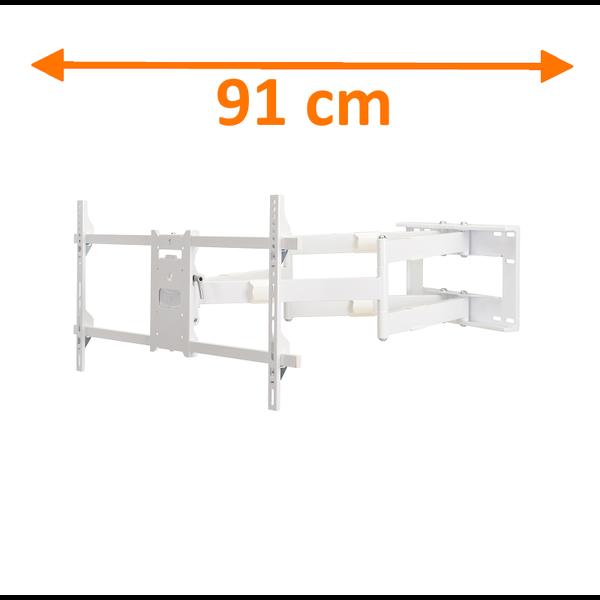 DQ Reach XXL 91 cm White TV Beugel