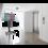 Vogel's Professional Vogel's SET T 2064 Black - 207 cm TV Vloerstandaard