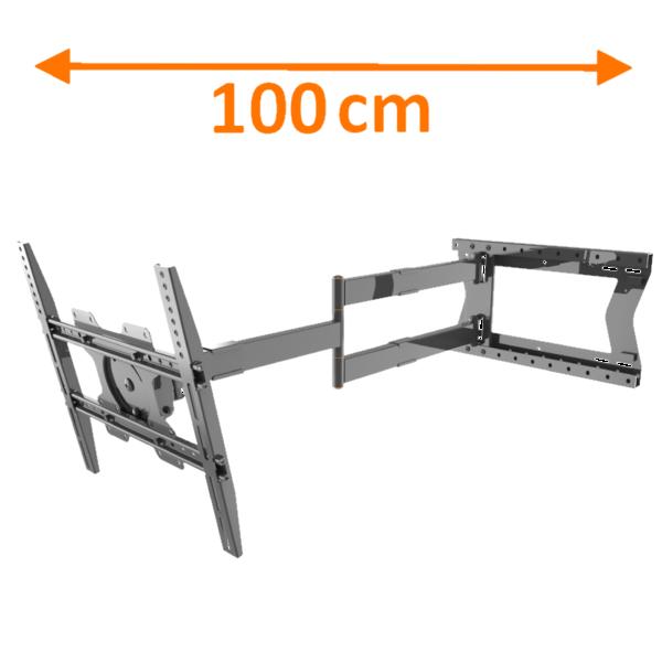 XTRarm Crius 100 cm TV Beugel Black