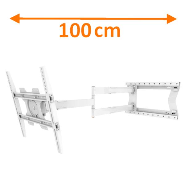 XTRarm Crius 100 cm Rotate 400 TV Beugel White