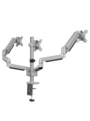 DQ Cromo driedubbele Monitorbeugel - Met gasveer