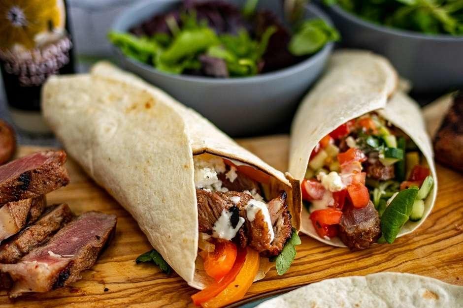 BBQ tortilla wraps met diverse vullingen