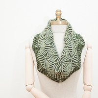 Leafy Brioche, Knitted Cowls and Scarves