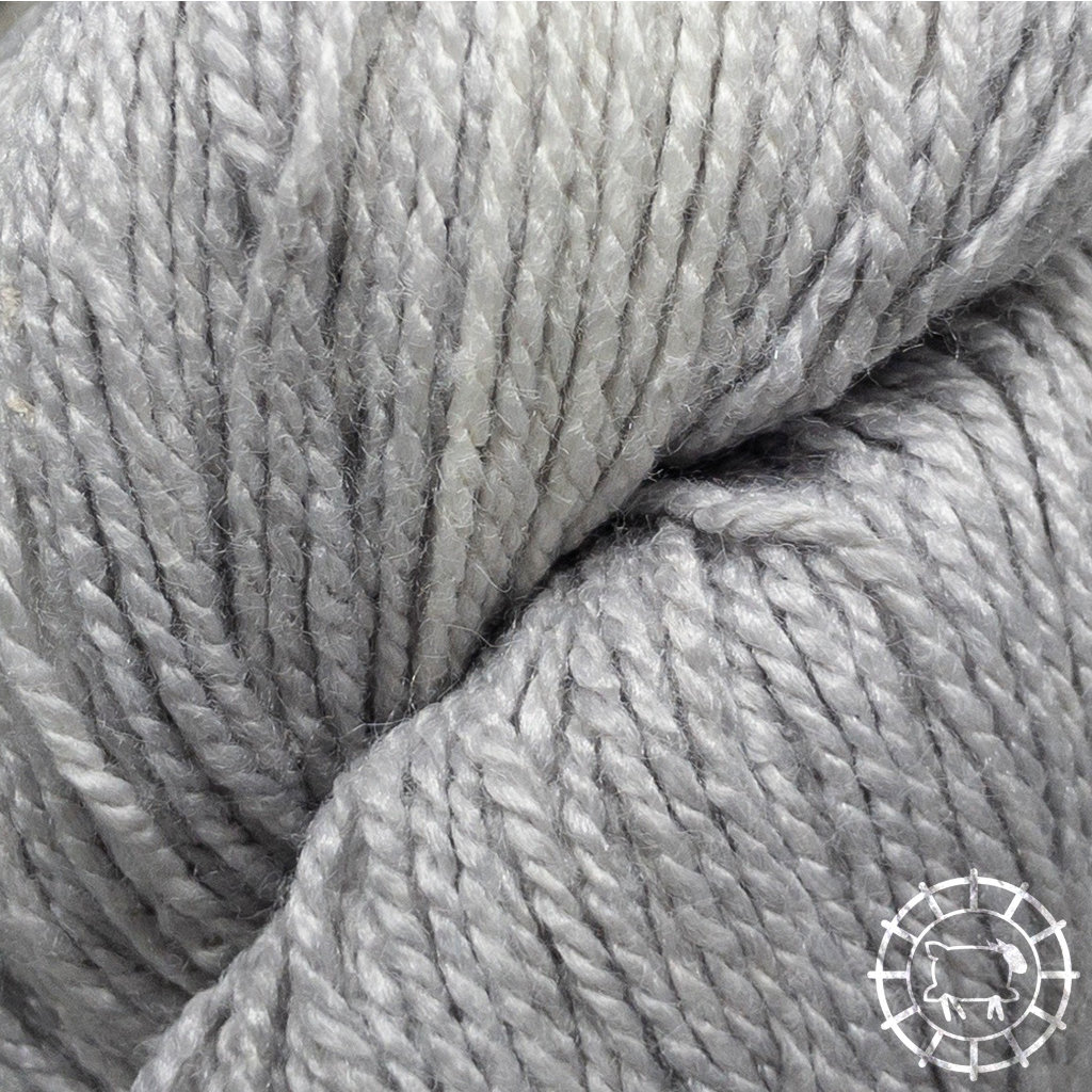«Woolpack Yarn Collection» Bio-Seide Ahimsa – Silber, Seide lebender Schmetterlinge