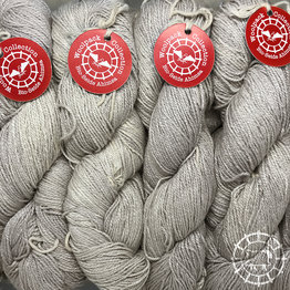 «Woolpack Yarn Collection» Soie bio, Ahimsa – Argent