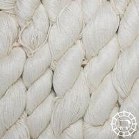«Woolpack Yarn Collection» Soie bio, Ahimsa – Blanc, non teinte, soie de papillons vivants