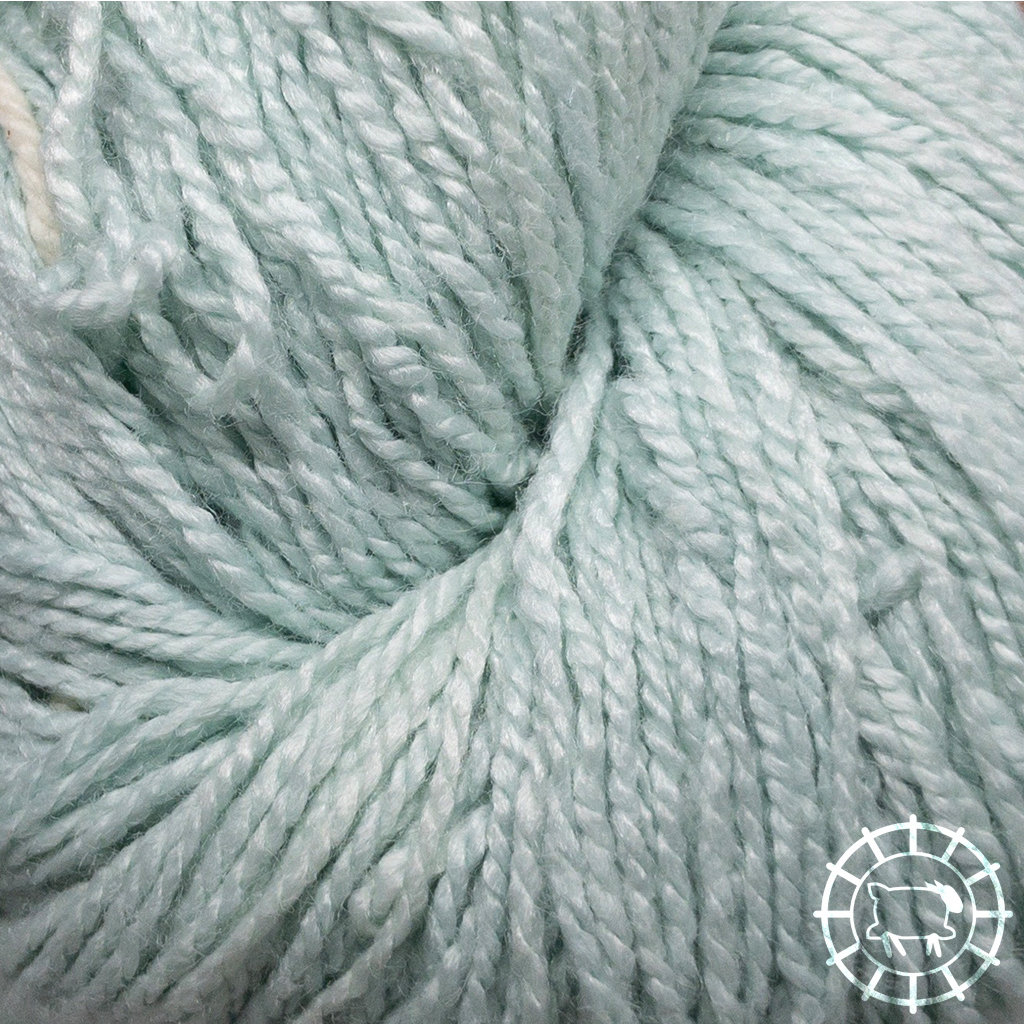 «Woolpack Yarn Collection» Soie bio, Ahimsa – Glacier, soie de papillons vivants