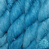 «Woolpack Yarn Collection» Bio-Seide Ahimsa – Azur, Seide lebender Schmetterlinge