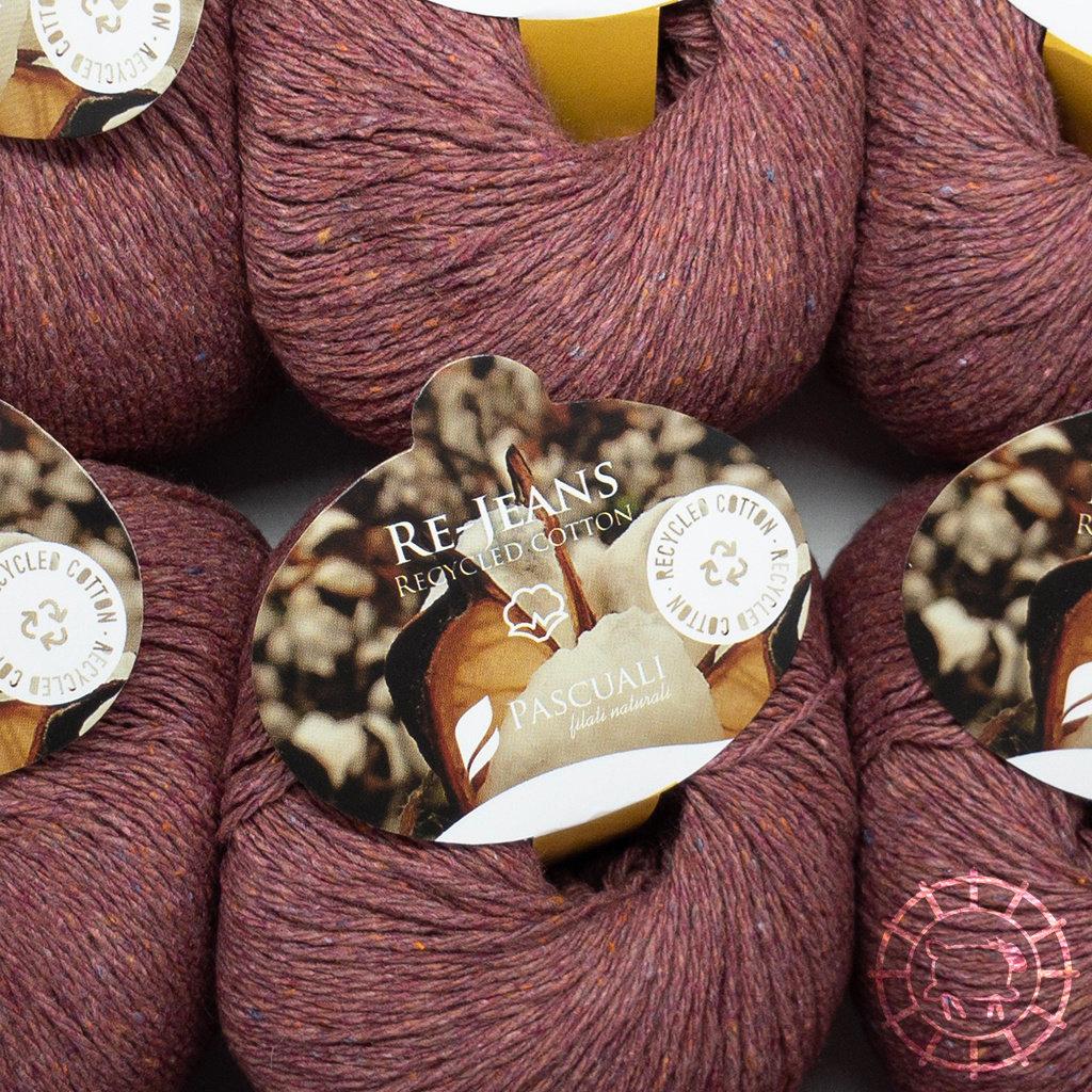 «Pascuali» – filati naturali Re-Jeans – Bordeaux