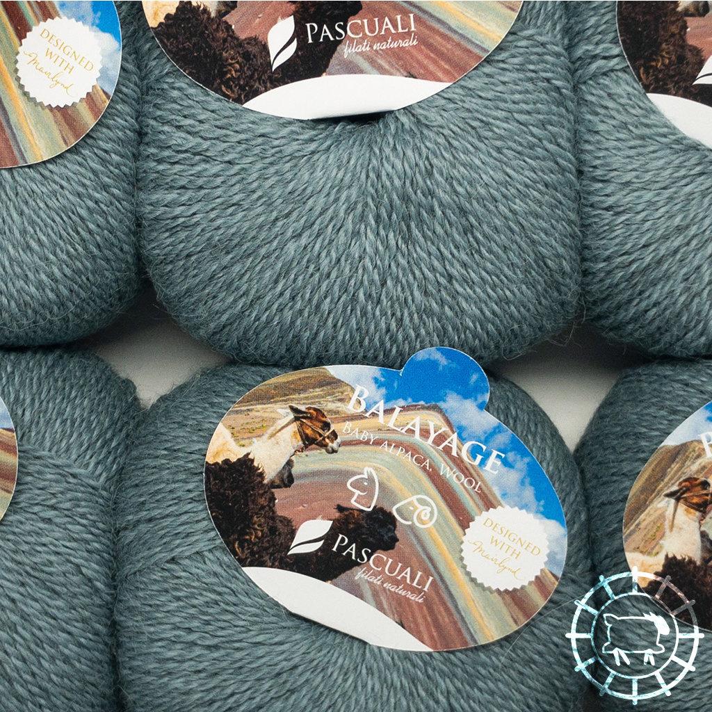 «Pascuali» – filati naturali Balayage – Sandoval, Graugrün