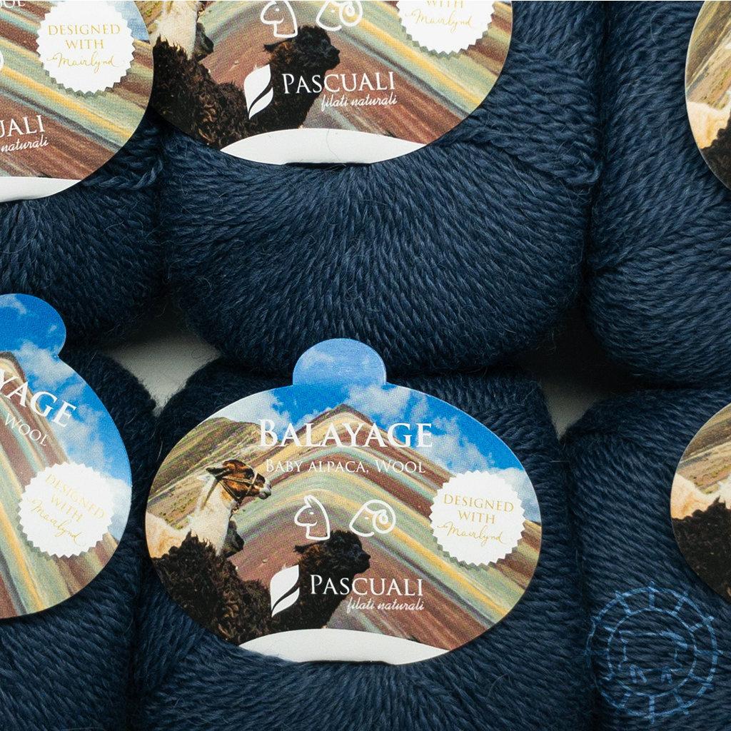 «Pascuali» – filati naturali Balayage – Titicaca, Jeansblau
