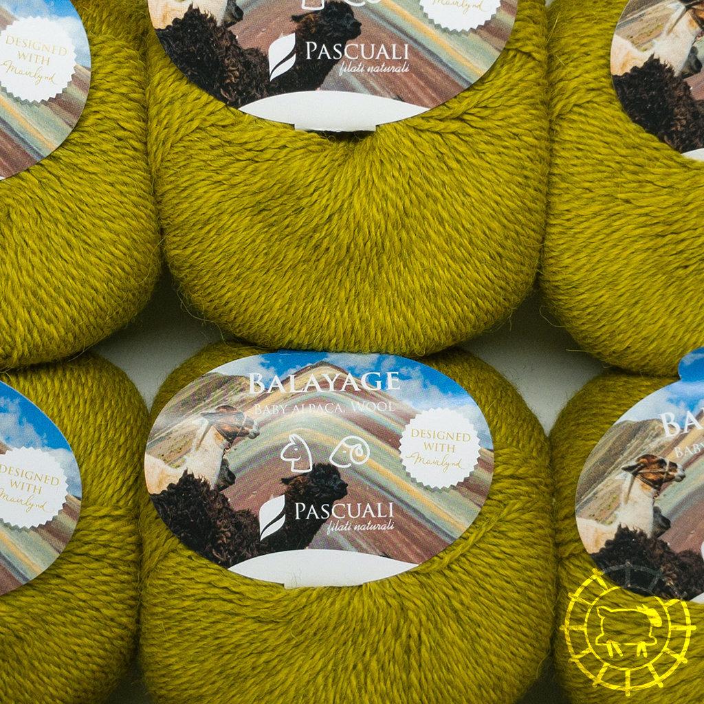 «Pascuali» – filati naturali Balayage – Piura, Jaune moutarde
