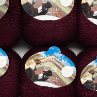 «Pascuali» – filati naturali Balayage – Misti, rouge foncé