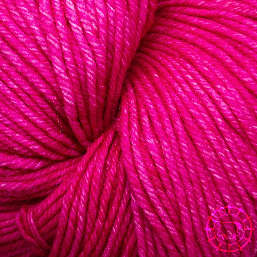 «Malabrigo Yarn» Arroyo – Fuchsia, ein starkes Pink