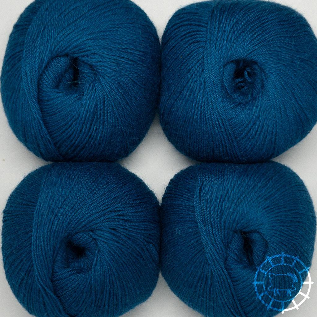 «Woolpack Yarn Collection» Baby Alpaca Socks – Bleu pétrole