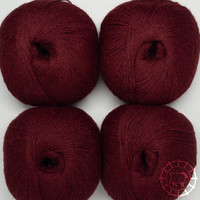 «Woolpack Yarn Collection» Baby Alpaka Socks – Weinrot