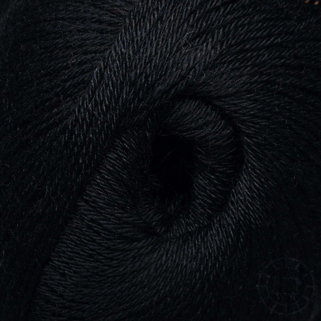 «Woolpack Yarn Collection» Baby Alpaka Socks – Schwarz