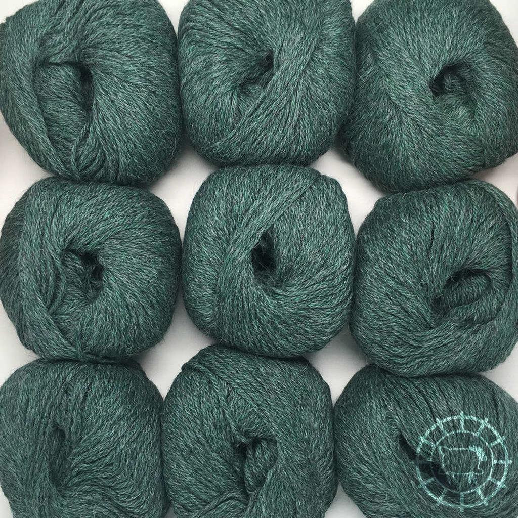 «Woolpack Yarn Collection» Baby Alpaka DK, meliert – Smaragd