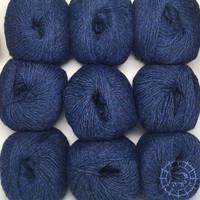 «Woolpack Yarn Collection» Baby Alpaka DK, meliert – Dunkelblau