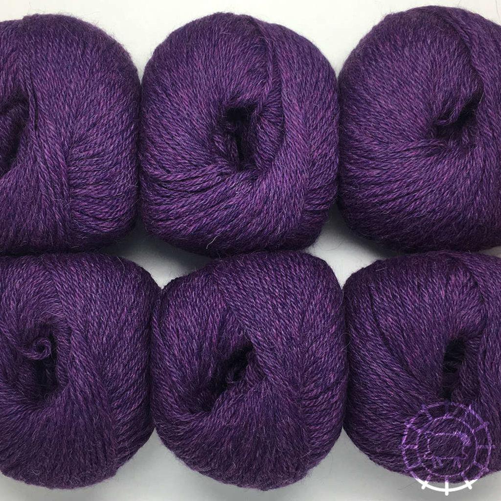 «Woolpack Yarn Collection» Baby Alpaka DK, meliert – Violett