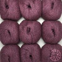 «Woolpack Yarn Collection» Baby Alpaca DK, chinée – Rouge de bruyère