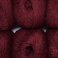 «Woolpack Yarn Collection» Baby Alpaca DK, chinée – Rouge merlot