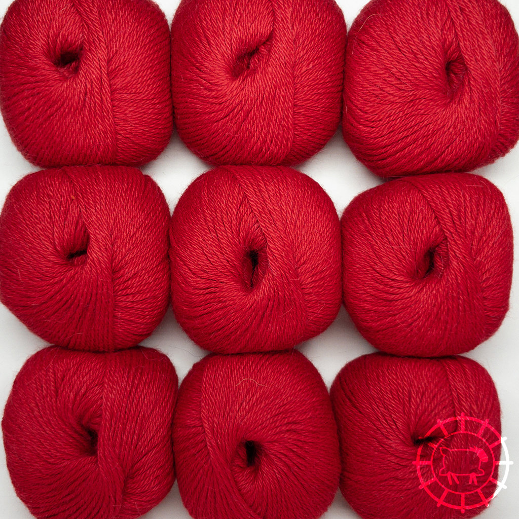 «Woolpack Yarn Collection» Baby Alpaka DK – sehr Rot