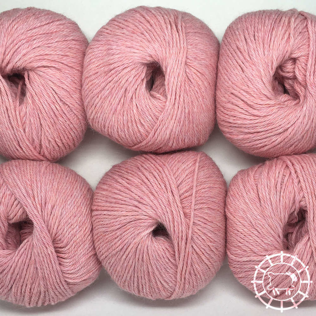 «Woolpack Yarn Collection» Baby Alpaca DK, chinée – Rose perle