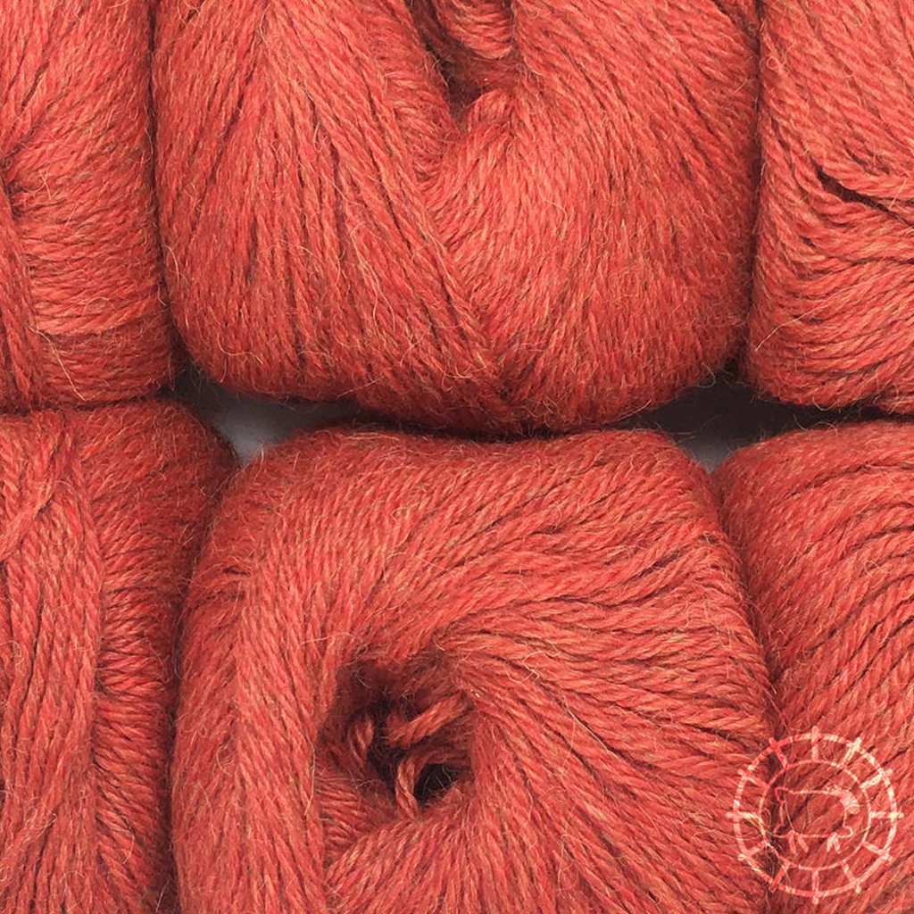 «Woolpack Yarn Collection» Baby Alpaca DK, chinée – Brique
