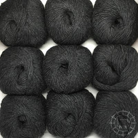 «Woolpack Yarn Collection» Baby Alpaca DK, chinée – Anthracite
