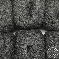 «Woolpack Yarn Collection» Baby Alpaca DK, chinée – Gris foncé