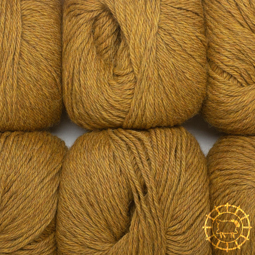 «Woolpack Yarn Collection» Baby Alpaka DK, meliert – Curry