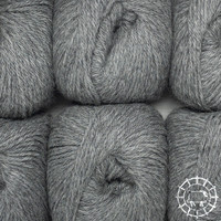 «Woolpack Yarn Collection» Baby Alpaca DK, chinée – Gris