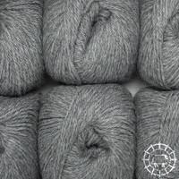 «Woolpack Yarn Collection» Baby Alpaka DK, meliert – Mittelgrau