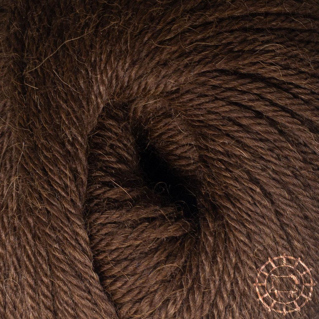 «Woolpack Yarn Collection» Baby Alpaka DK, meliert – Schokolade
