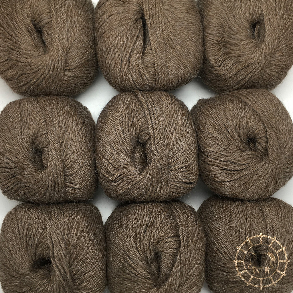 «Woolpack Yarn Collection» Baby Alpaca DK, chinée – Chameau