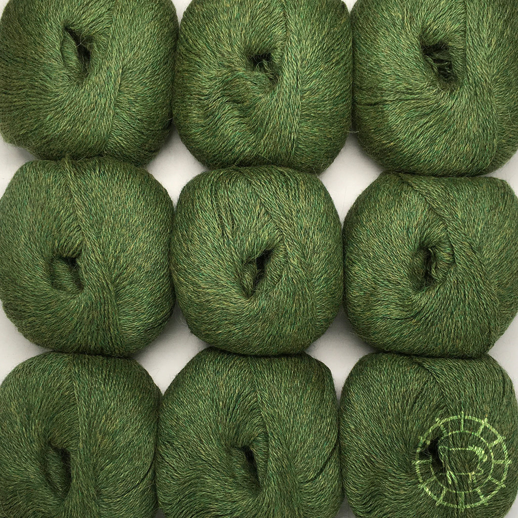 «Woolpack Yarn Collection» Baby Alpaca Fingering, chinée – Vert