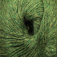 «Woolpack Yarn Collection» Baby Alpaka Fingering, meliert – Grün