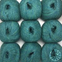 «Woolpack Yarn Collection» Baby Alpaka Fingering, meliert – Blaugrün
