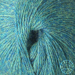 «Woolpack Yarn Collection» Baby Alpaca Fingering, chinée – Vert bleu