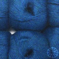 «Woolpack Yarn Collection» Baby Alpaca Fingering, chinée – Bleu d'océan