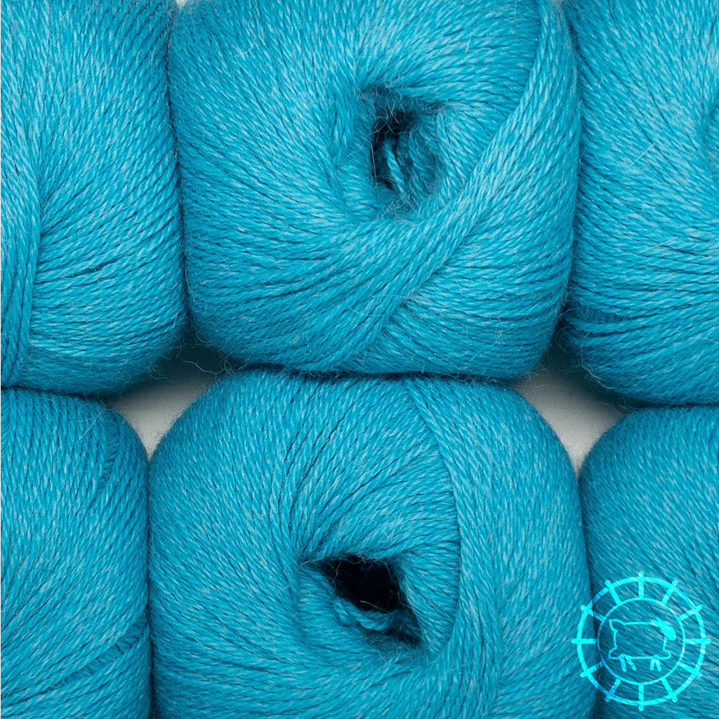 «Woolpack Yarn Collection» Baby Alpaka Fingering, meliert – Lagune