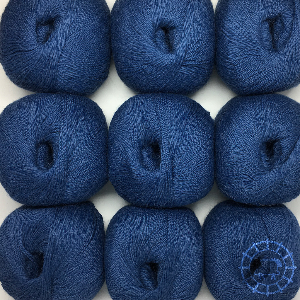 «Woolpack Yarn Collection» Baby Alpaka Fingering – Jeansblau