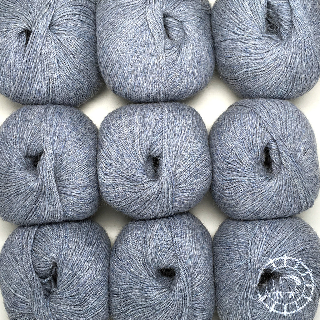«Woolpack Yarn Collection» Baby Alpaca Fingering, chinée – Glacier